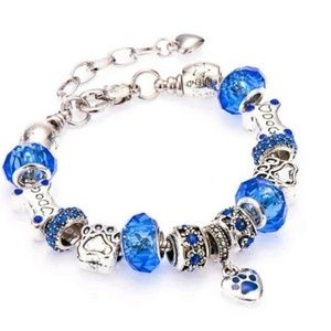 none Jewelry - Love My Dog Heart Paw Print Charm Bracelet